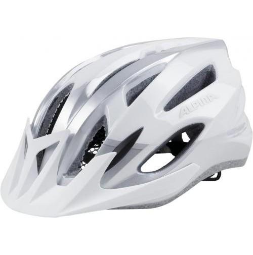 ALPINA Cyklistická prilba MTB 17 bielo-strieborná