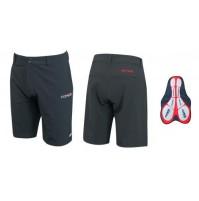 FORCE Krátke nohavice F BLADE MTB s odnímateľnou vložkou čierne