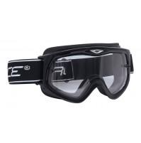 FORCE okuliare zjazdové čierne, číre sklo
