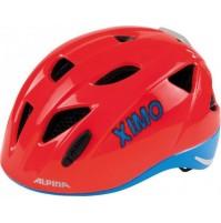 ALPINA Cyklistická prilba Ximo Flash neónovo červená - modrá