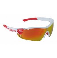FORCE okuliare RACE PRO bielo-červené, červené sklá