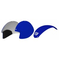 FORCE plasty k prilbe GLOBE súprava 3 ks, modré