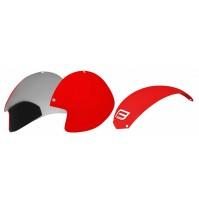 FORCE plasty k prilbe GLOBE súprava 3 ks, červené