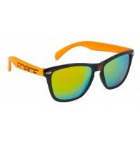 FORCE okuliare FREE čierno-oranžové, oranž. laser sklá