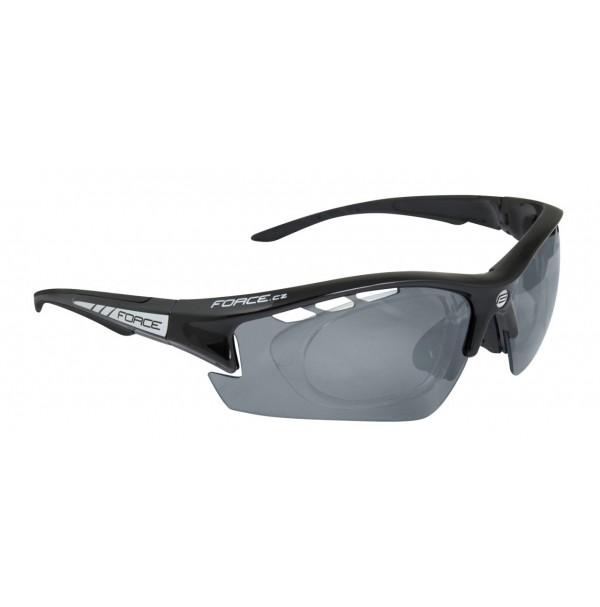 FORCE okuliare RIDE PRO čierne diop. klip, čierne laser sklá