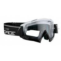 FORCE okuliare GRIME zjazdové bielo-čierne, číre sklo