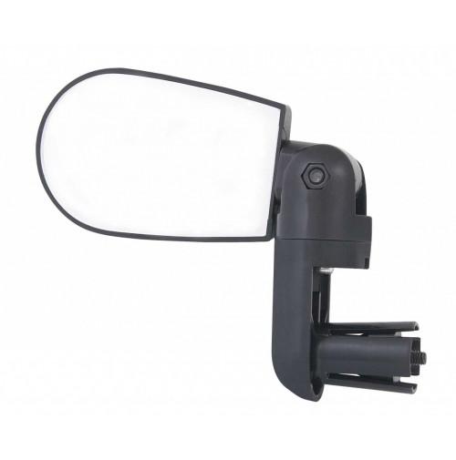 FORCE spätné zrkadlo MINI na riadítka, obojstranné, čierne