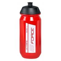 FORCE fľaša STRIPE 0,5 l, červeno-biela