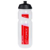 FORCE fľaša STRIPE 0,75 l, transparentná - červená
