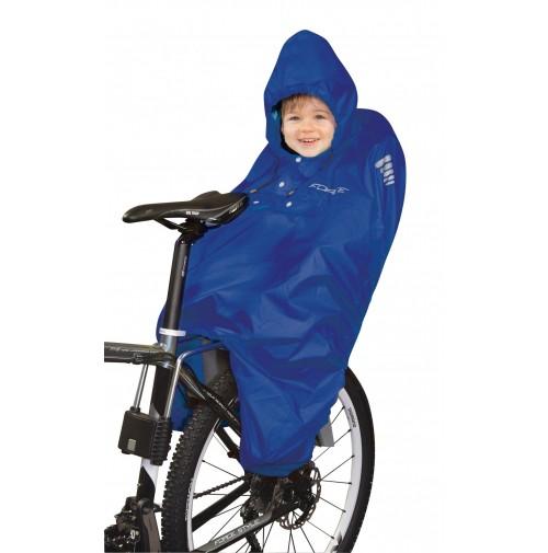 FORCE poncho-pláštenka na dieťa v sedačke, modré