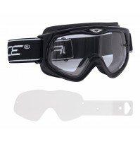 FORCE okuliare zjazdové čierne, číre sklo + fólie