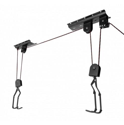 FORCE držiak bicykla LIFTY na strop, čierny