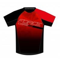 FORCE dres MTB CORE, červeno-čierny