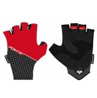 Force rukavice POINTS bez zapínania, červeno-čierne
