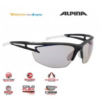 ALPINA Cyklistické okuliare EYE-5 HR VLM+ čierno-biele sklá: Varioflex mirror modré S1-3, fogstop hydrophob