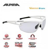 ALPINA Cyklistické okuliare EYE-5 HR VL+ bielo matné-čierne sklá: Varioflex black S1-3 fogstop