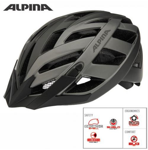 ALPINA Cyklistická prilba PANOMA L.E tmavostrieborno-titánová matná
