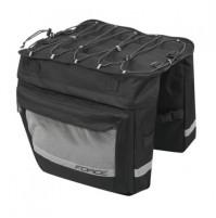 FORCE taška DOUBLE dvojitá zadná, čierna, 2x18 l
