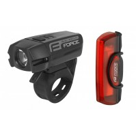 FORCE sada svetiel GLARE USB predné + zadné