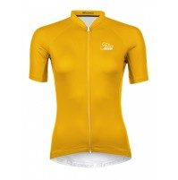 FORCE dres PURE dámsky krátky rukáv, žltý