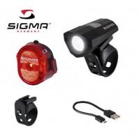 SIGMA Set svetlo BUSTER 100 HL + blikačka Nugget II Micro-USB, 120 Lumen
