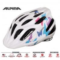 ALPINA Cyklistická prilba FB JUNIOR 2.0 biela s motýľmi