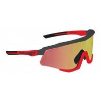 FORCE okuliare SONIC čierno-červené, červené zrkadlové sklá