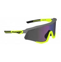 FORCE okuliare SONIC šedo-fluo, modro-fialové zrkadlové sklá
