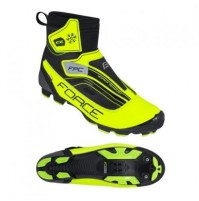 Tretry zimné FORCE ICE MTB, fluo