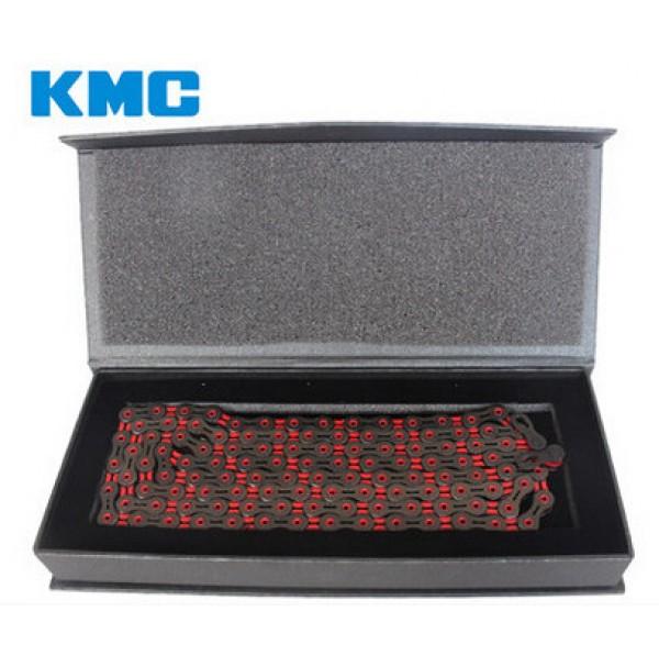 KMC Reťaz DLC 10 čierno-červená 1/2