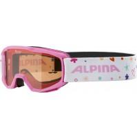 Lyžiarske okuliare detské Alpina PINEY ružové