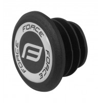 FORCE záslepky - zátka do riadítok s PVC logom