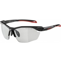 ALPINA Cyklistické okuliare TWIST FIVE HR VL+ čierno-červené, sklá: Varioflex čierne, fogstop S1-3