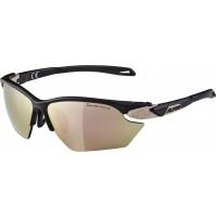 ALPINA Cyklistické okuliare Twist Five HR S CM+ sépiová matná sklá: Ceramic mirror ružovo-zlaté