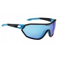 ALPINA Okuliare S-WAY VLM+ čierna mat-cyan sklá Varioflex mirror modré