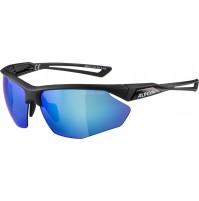 ALPINA Okuliare NYLOS HR čierne matné, sklá modrézrkadlové