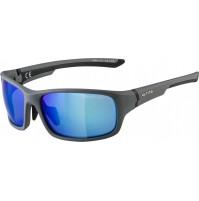 ALPINA Okuliare LYRON S uhľovo šedá-čierna matná, sklá : modré zrkadlové