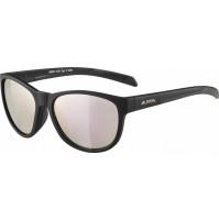 ALPINA okuliare Nacan II čierne mat, sklá: ružovo-zlaté zrkadlové