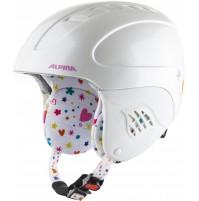 ALPINA Detská lyžiarska prilba CARAT white-deco