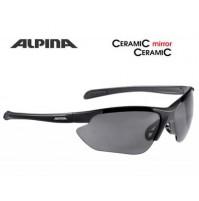 ALPINA Cyklistické okuliare JALIX čierne mat sklá: Cearamic mirror čierne S3