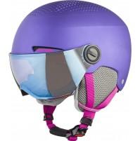ALPINA Juniorská lyžiarska prilba ZUPO VISOR fialová mat