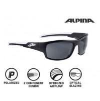 ALPINA Okuliare TESTIDO P čierna mat-biele sklá POLARISATION čierne S3