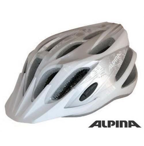 ALPINA Cyklistická prilba Tour 2.0 strieborno-biela