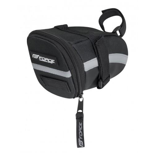 FORCE taška pod sedlo MID suchý zips, čierna M