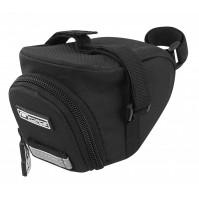 FORCE taška pod sedlo ZIP suchý zips, čierna M