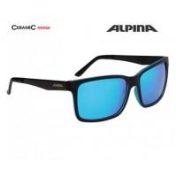 ALPINA Okuliare DON HUGO čierno-modré matné sklá CERAMIC mirror modré S3