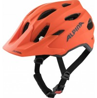 ALPINA Cyklistická prilba Carapax JR oranžová mat