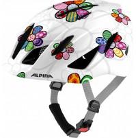 ALPINA Cyklistická prilba PICO perlovobiela s kvetmi