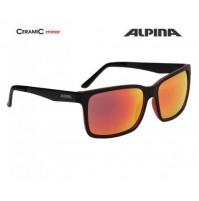 ALPINA Okuliare DON HUGO čierno-červené matné sklá CERAMIC mirror červené S3