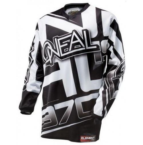ONeal Element Racewear dres čierna/biela